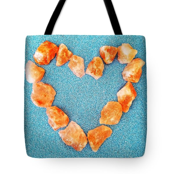 Pink Rocks Heart Tote Bag