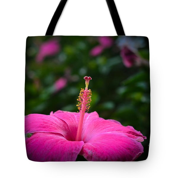 Tote Bag featuring the photograph Pink Romance by Kelly Wade