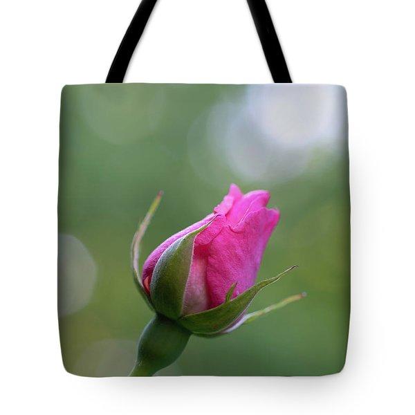 Pink Rose Bud Tote Bag