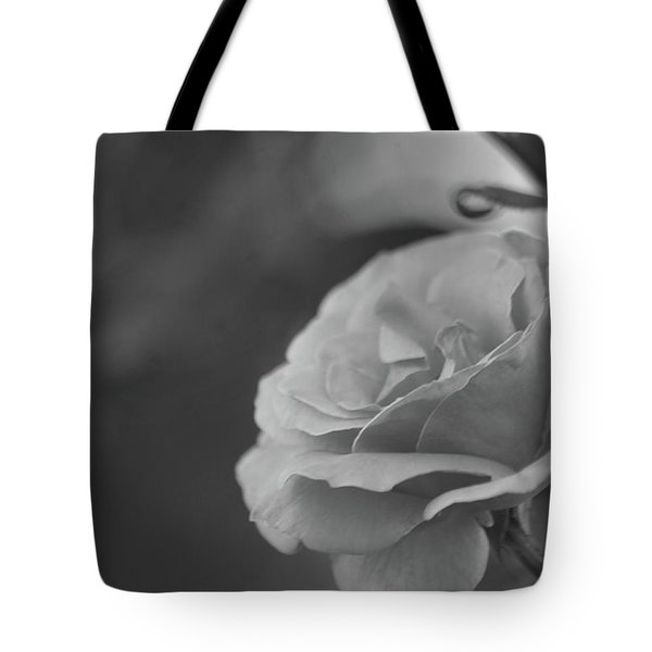 Pink Rose - Bw Tote Bag