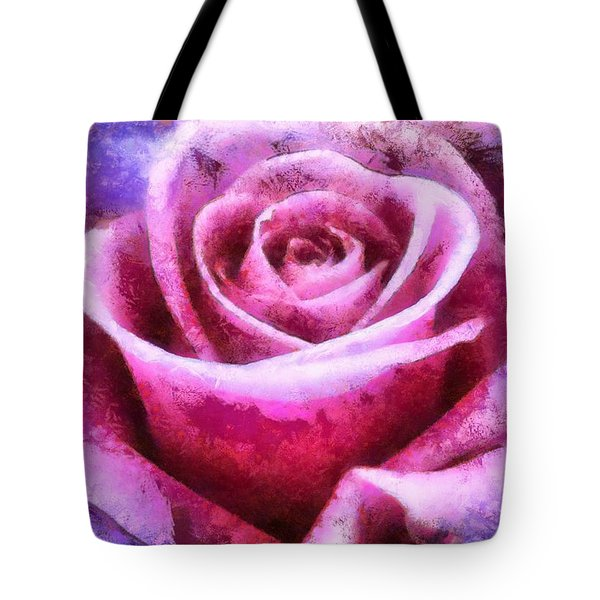 Pink Rose Tote Bag by Charmaine Zoe