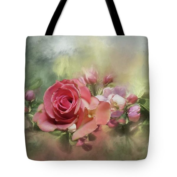 Pink Rose For Mom Tote Bag
