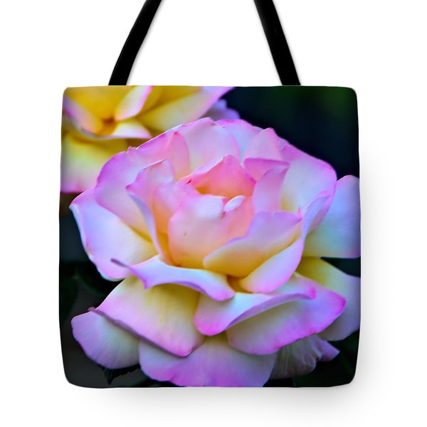 Pink Rose Tote Bag by Josephine Buschman