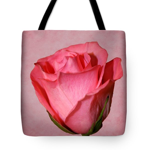 Tote Bag featuring the photograph Pink Rose by Judy Vincent