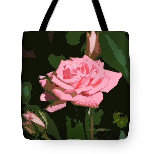 Pink Rose  Tote Bag