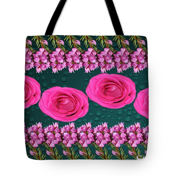 Pink Roses Floral Display Tote Bag