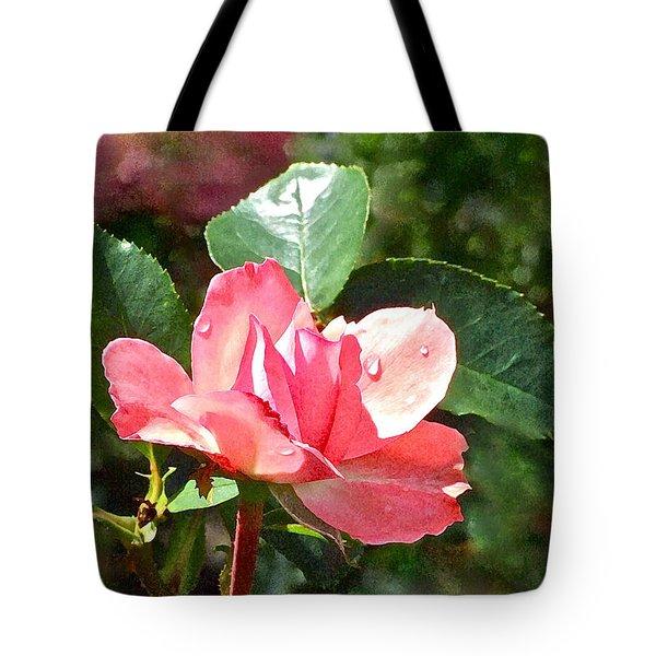 Pink Roses In The Rain 2 Tote Bag