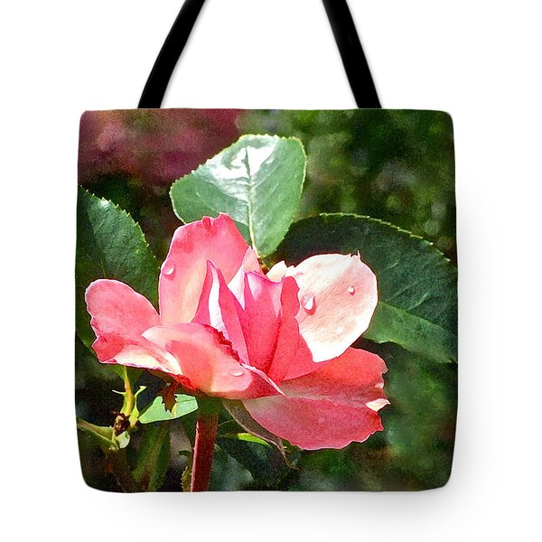 Pink Roses In The Rain 2 Tote Bag