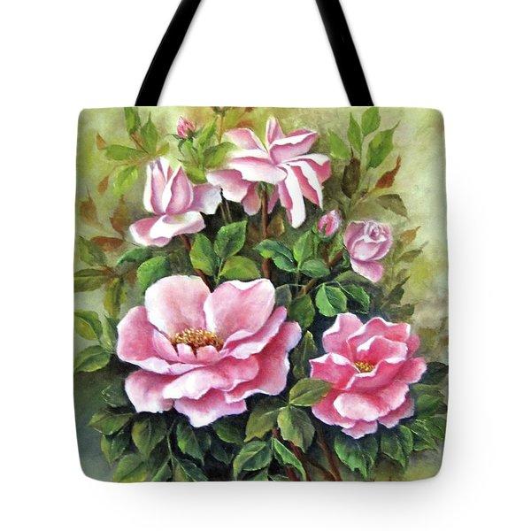 Pink Roses Tote Bag by Katia Aho