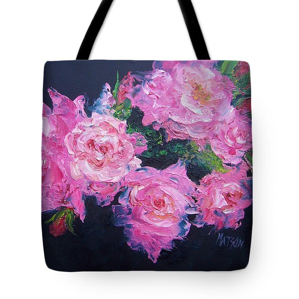 Pink Roses Oil Painting Tote Bag