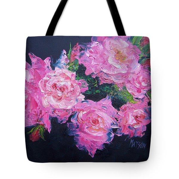 Pink Roses Oil Painting Tote Bag