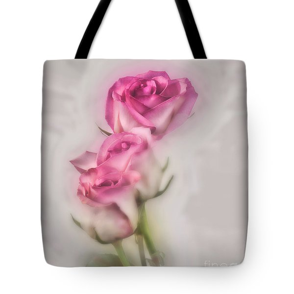Tote Bag featuring the photograph Pink Roses by Shirley Mangini
