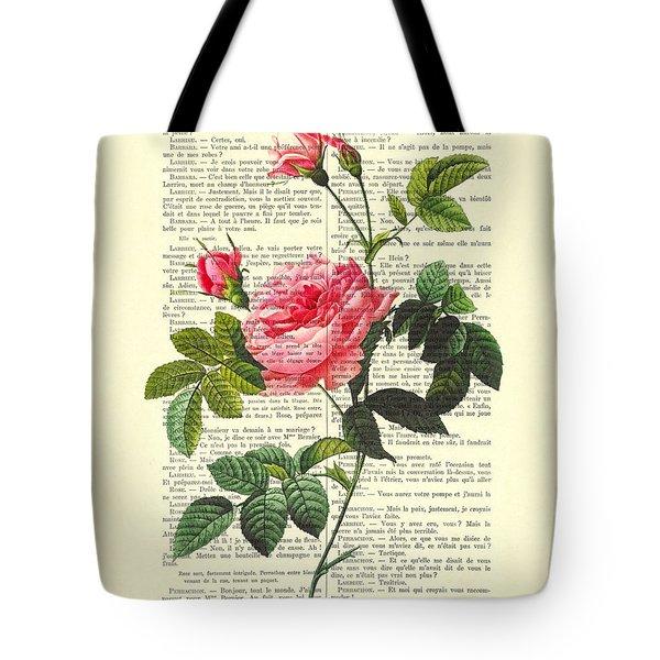 Pink Roses, Valentines Gift Tote Bag
