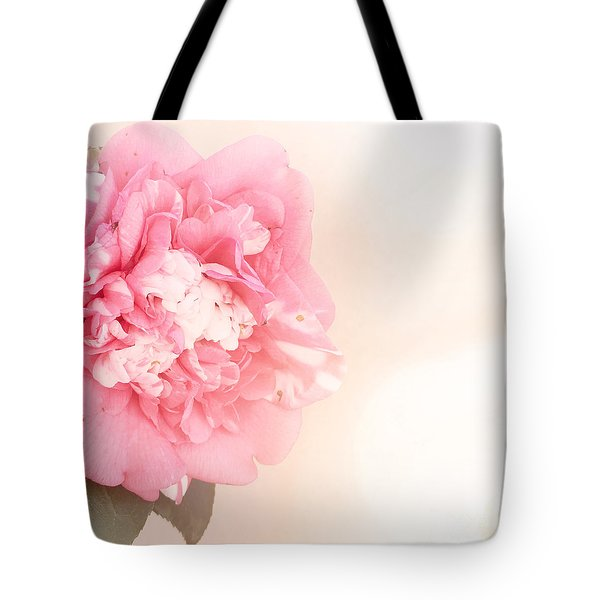 Tote Bag featuring the photograph Pink Ruffled Camellia by Cindy Garber Iverson
