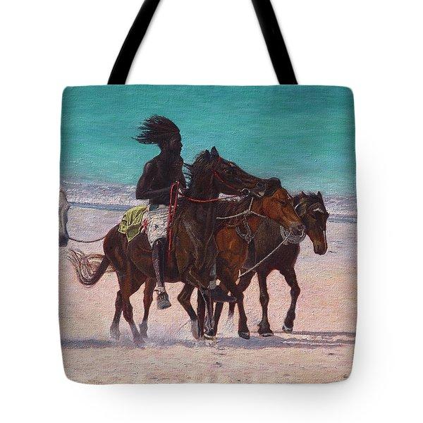 Pink Sand Rider Tote Bag