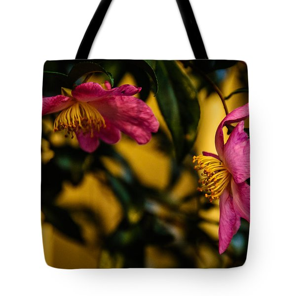 Pink Sasanquas  Tote Bag