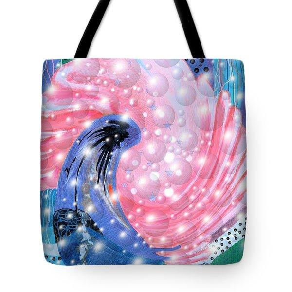 Pink Shell Fantasia Tote Bag
