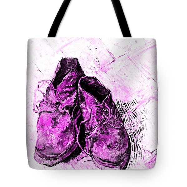 Pink Shoes Tote Bag by John Stephens