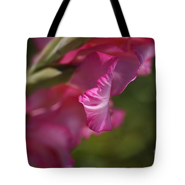 Pink Side Of Gladioli Tote Bag