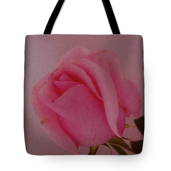 Pink Single Rose Tote Bag