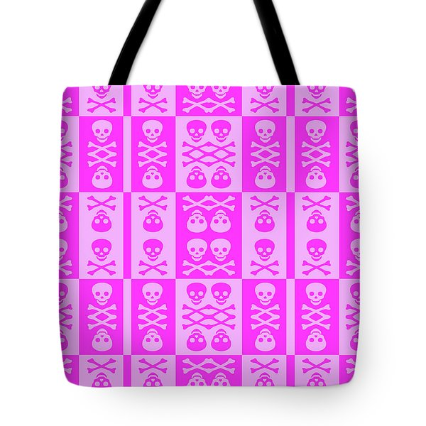 Pink Skull And Crossbones Pattern Tote Bag