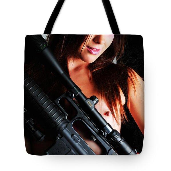 Pink Sniper Tote Bag