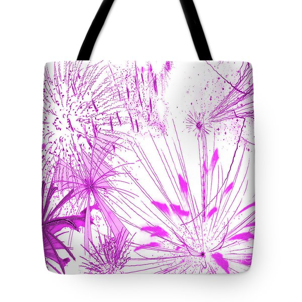 Pink Splash Watercolor Tote Bag by Methune Hively