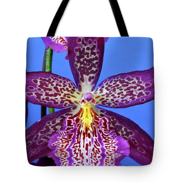 Pink Spotted Oncidium Orchids Tote Bag