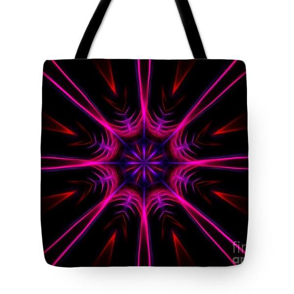 Pink Starburst Fractal  Tote Bag