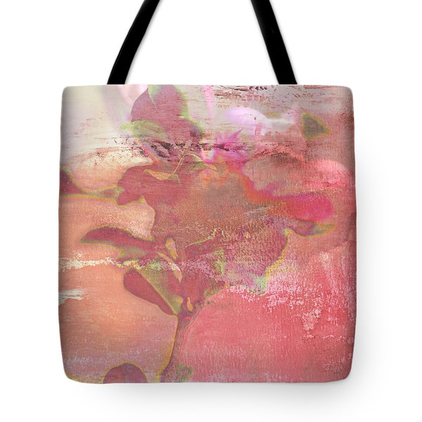 Pink Striped Tulip Flower Tote Bag