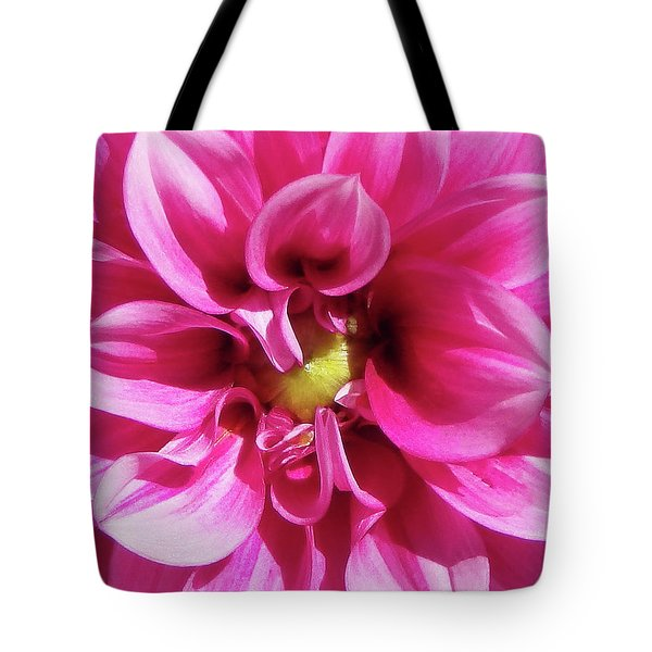 Pink Summer Flower Macro Tote Bag