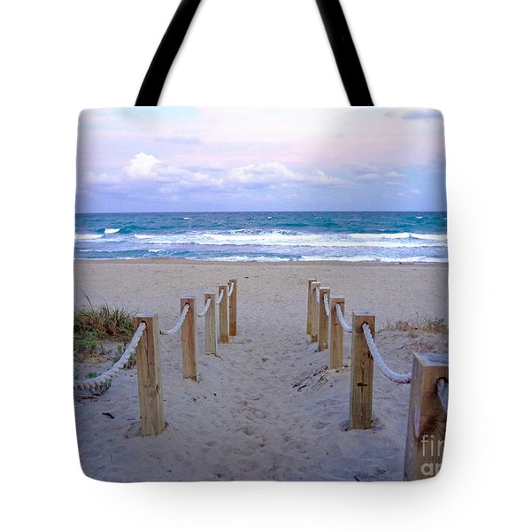Pink Sunrise Beach Treasure Coast Florida C6 Tote Bag