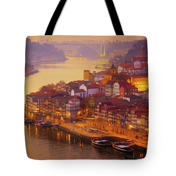 Pink Sunset In Porto Tote Bag
