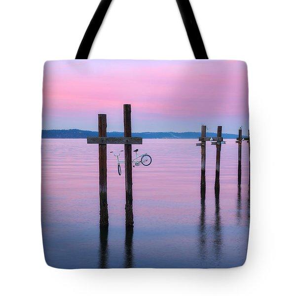 Pink Sunset Tote Bag by Ryan Manuel