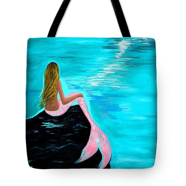 Pink Tail Tote Bag by Leslie Allen