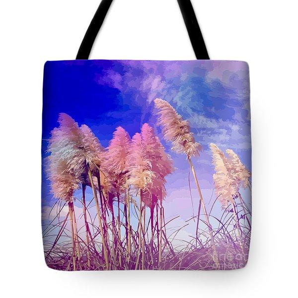 Pink Toi Toi Grasses Tote Bag