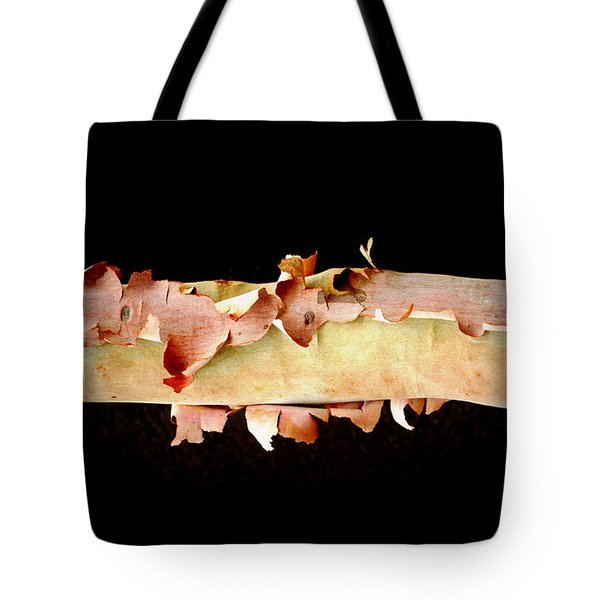 Pink Tree Bark Tote Bag