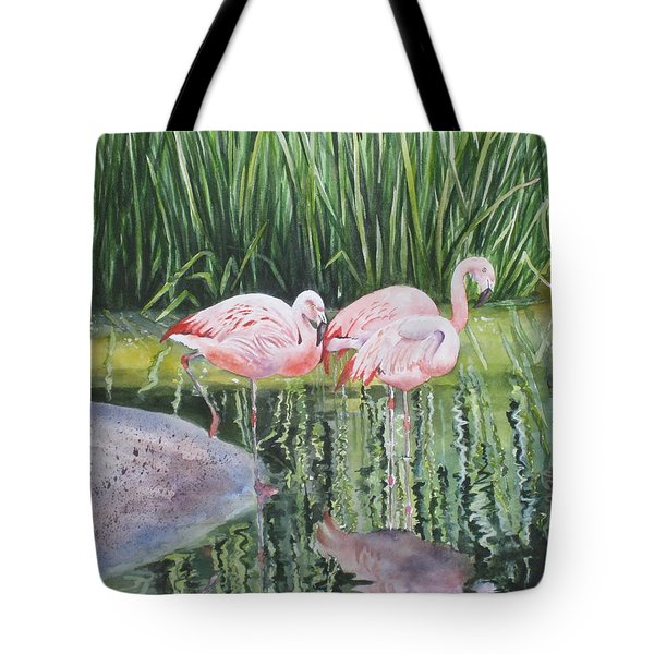 Pink Trio Tote Bag by Mary McCullah