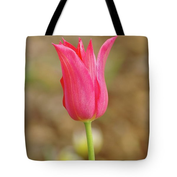 Tote Bag featuring the photograph Pink Tulip by Dariusz Gudowicz