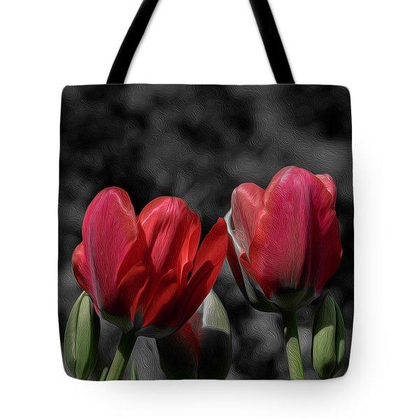 Pink Tulip Pop Tote Bag