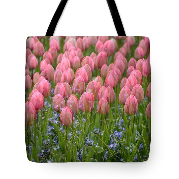 Tote Bag featuring the photograph Pink Tulips by Phyllis Peterson