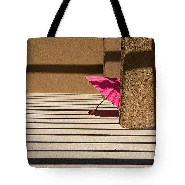 Pink Umbrella Tote Bag by Carolyn Dalessandro