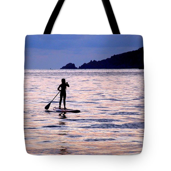 Tote Bag featuring the photograph Pink Water Girl by Jim Walls PhotoArtist