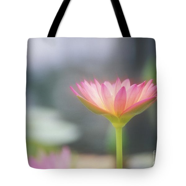 Pink Water Lily Tote Bag by Ron Dahlquist - Printscapes