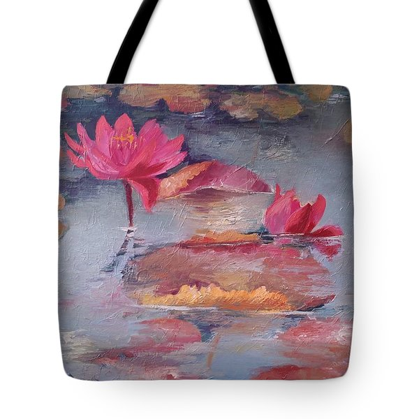 Pink Waterlilies Tote Bag