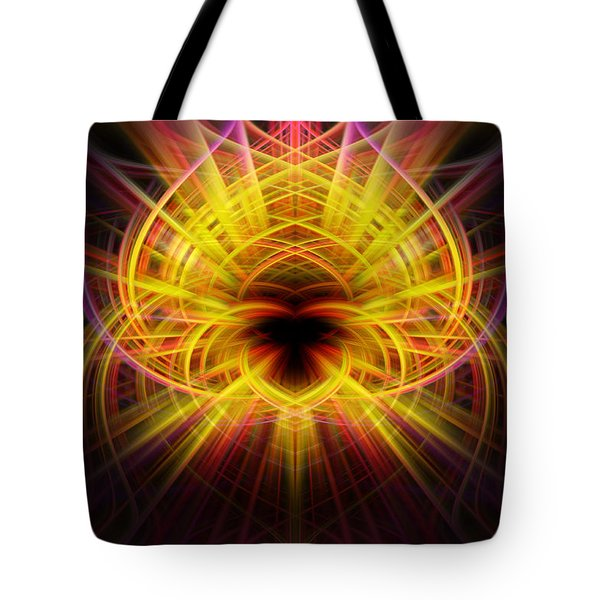 Pink/yellow Twirls Tote Bag by Cherie Duran