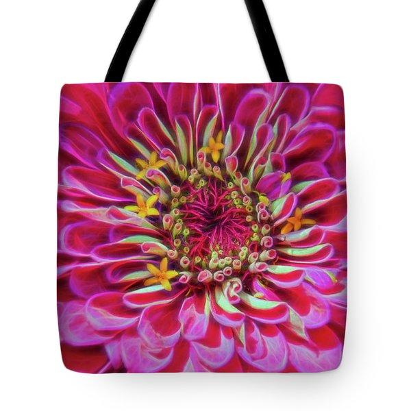Pink Zinnia Glow Tote Bag