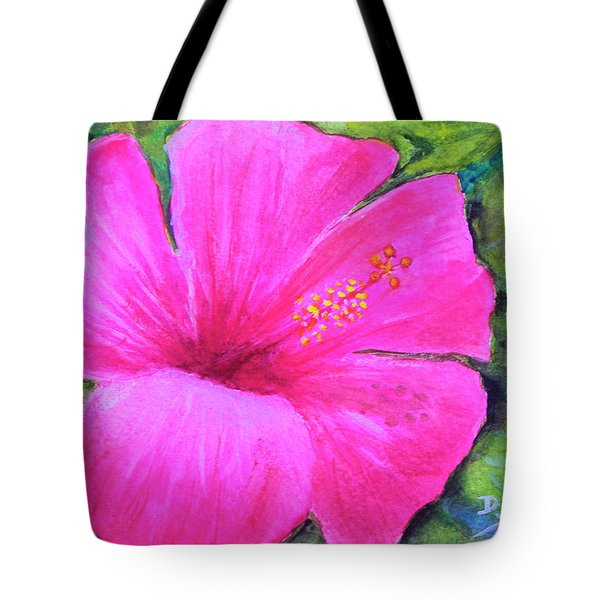 Pinkhawaii Hibiscus #505 Tote Bag by Donald k Hall
