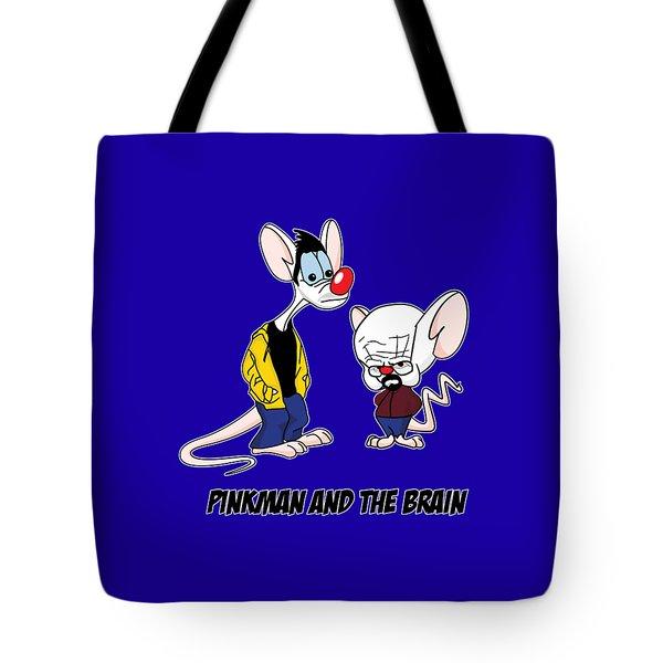 Pinkman And The Brain Breaking Bad Parody Pinky And The Brain Parody Breaking Bad Tv Show Tote Bag