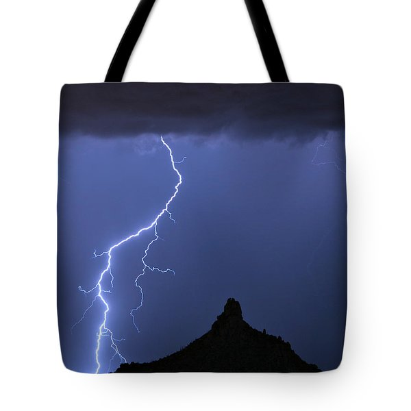 Pinnacle Peak Lightning  Tote Bag by James BO  Insogna
